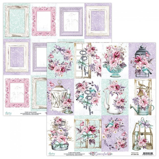 Papel Estampado Doble Cara 12x12 Graceful 6