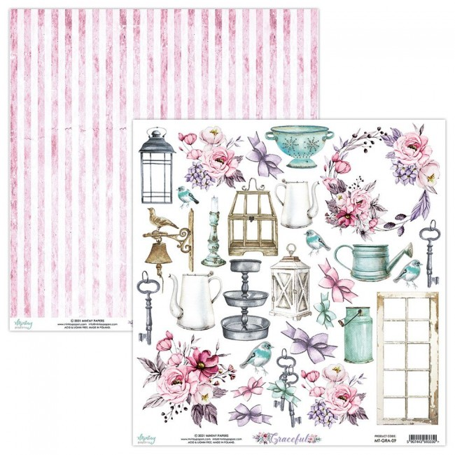 Papel Estampado Doble Cara 12x12 Graceful Elements