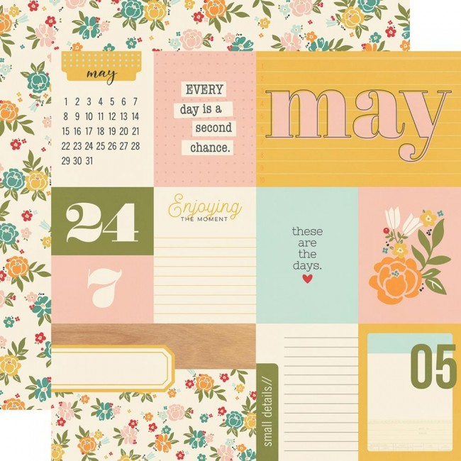 Papel Estampado Doble Cara 12x12 Hello Today May