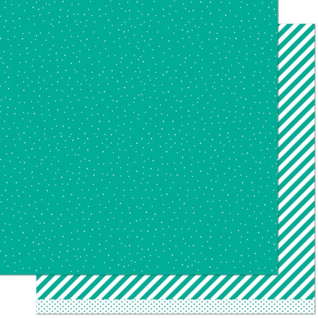 Papel Estampado Doble Cara 12x12 Let It Shine Teal