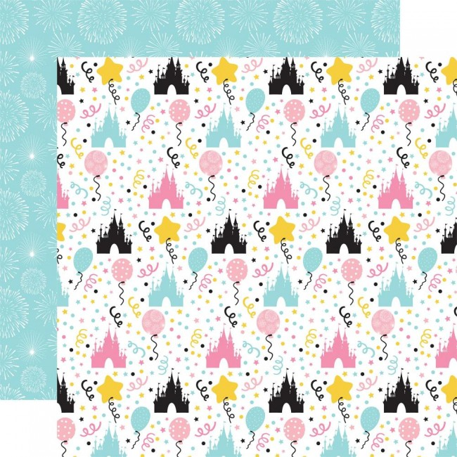 Papel Estampado Doble Cara 12x12 Magical Birthday Girl Castles