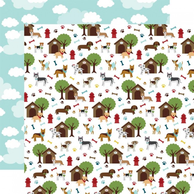 Papel Estampado Doble Cara 12x12 My Dog Dog Days