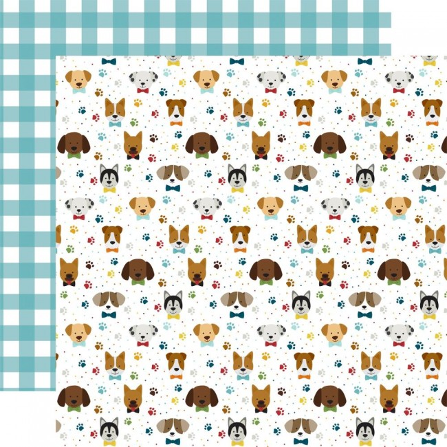 Papel Estampado Doble Cara 12x12 My Dog Puppy Pals