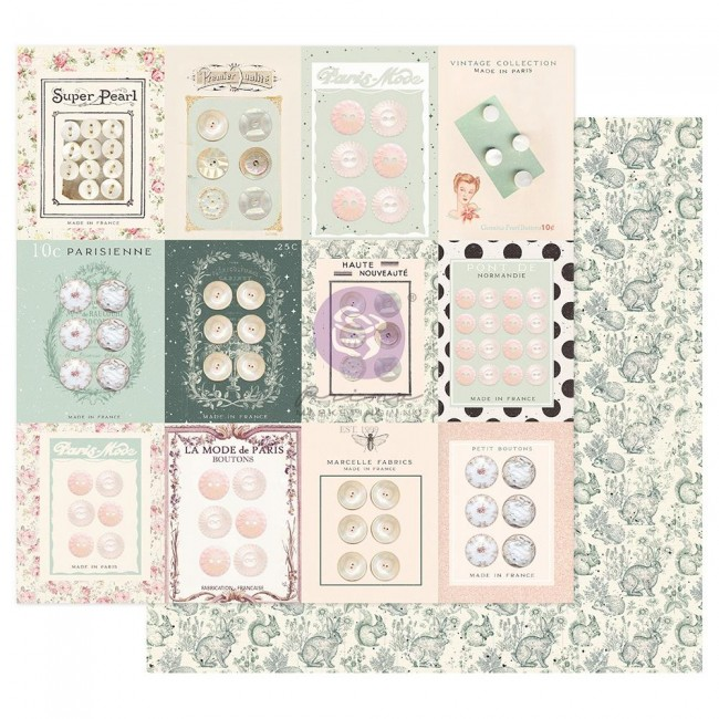 Papel Estampado Doble Cara 12x12 My Sweet By Frank Garcia Partisan Buttons