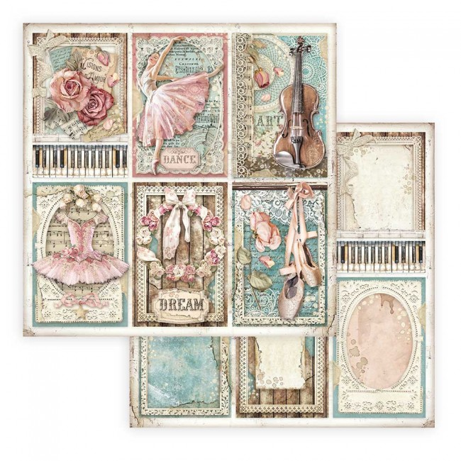 Papel Estampado Doble Cara 12x12 Passion Cards