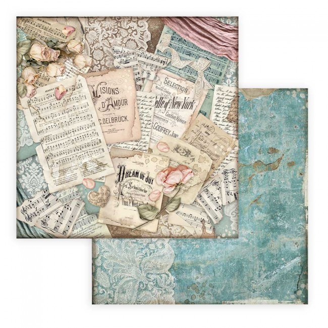 Papel Estampado Doble Cara 12x12 Passion Scores
