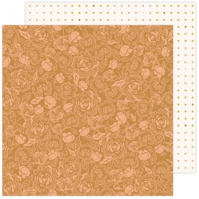 Papel Estampado Doble Cara 12x12 Peaceful Hearts Jeane Hadfield Blessed
