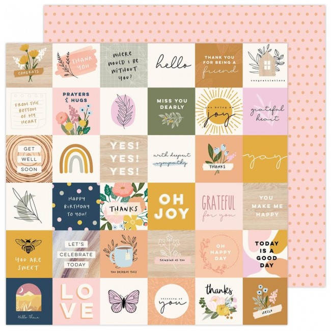 Papel Estampado Doble Cara 12x12 Peaceful Hearts Jeane Hadfield Day By Day