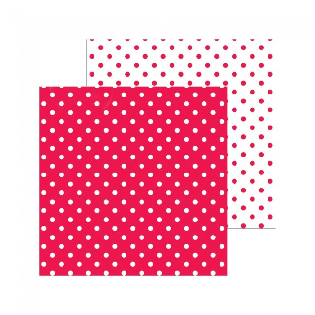 Papel Estampado Doble Cara 12x12 Petite Swiss Dot Ladybug