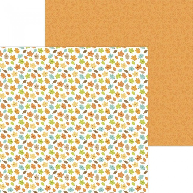 Papel Estampado Doble Cara 12x12 Pumpkin Spice Happy Fall