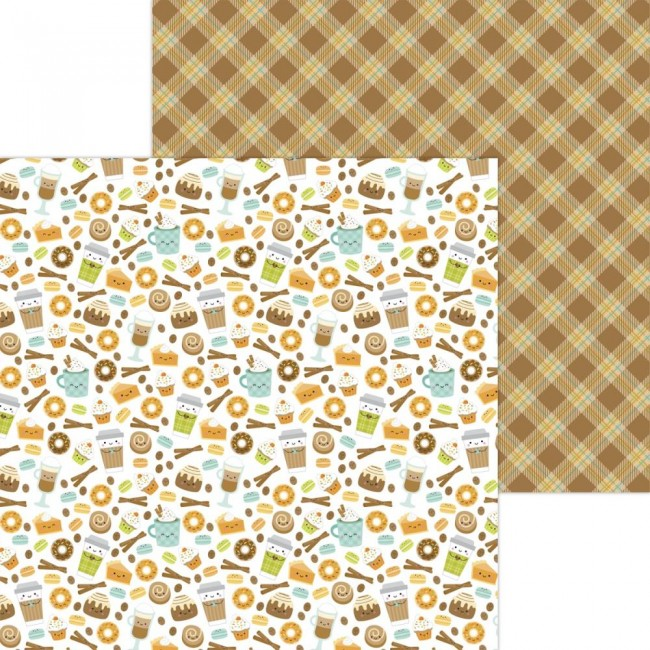 Papel Estampado Doble Cara 12x12 Pumpkin Spice