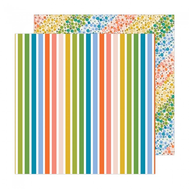 Papel Estampado Doble Cara 12x12 Reaching Out Jen Hadfield Rainbow Skies