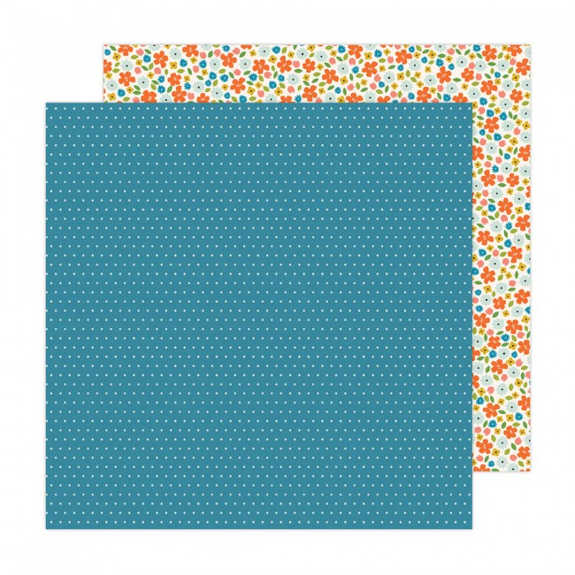 Papel Estampado Doble Cara 12x12 Reaching Out Jen Hadfield Scatter Friendship