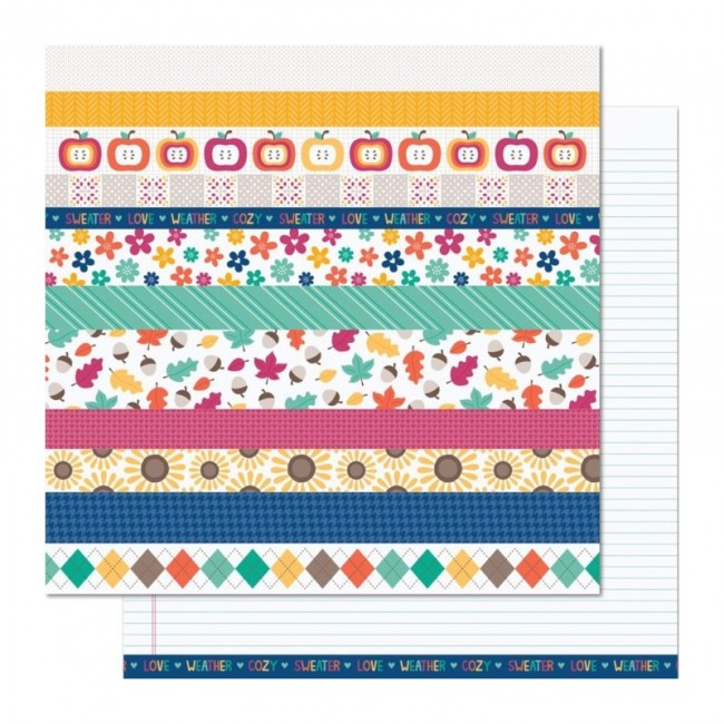 Papel Estampado Doble Cara 12x12 Sweater Wheather Gusty