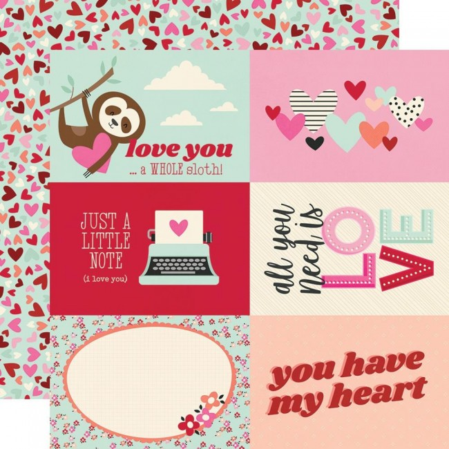 "Papel Estampado Doble Cara 12x12 Sweet Talk 4""X6"" Elements"