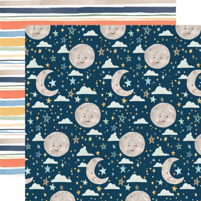 Papel Estampado Doble Cara 12x12 Welcome Baby Boy Sweet Dreams
