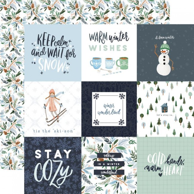 "Papel Estampado Doble Cara 12x12 Winter Market 4""X"