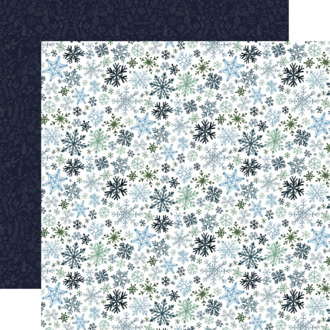Papel Estampado Doble Cara 12x12 Winter Market Let
