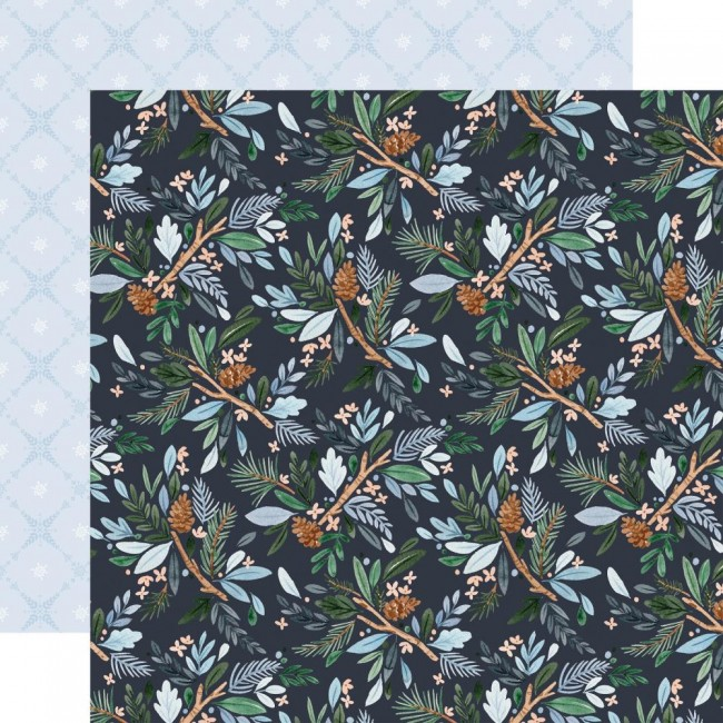 Papel Estampado Doble Cara 12x12 Winter Market Win