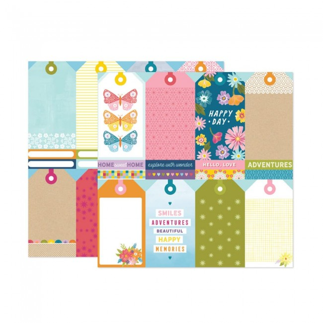 Papel Estampado Doble Cara 12x12 Wonders Paige Evans 12