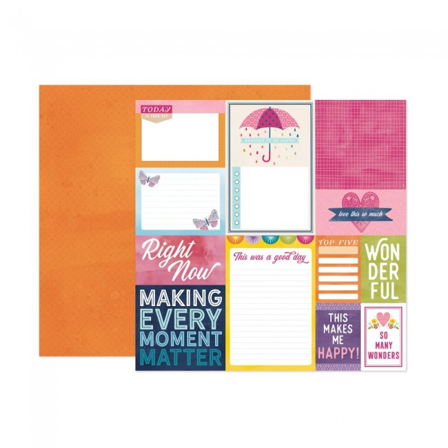 Papel Estampado Doble Cara 12x12 Wonders Paige Evans 17