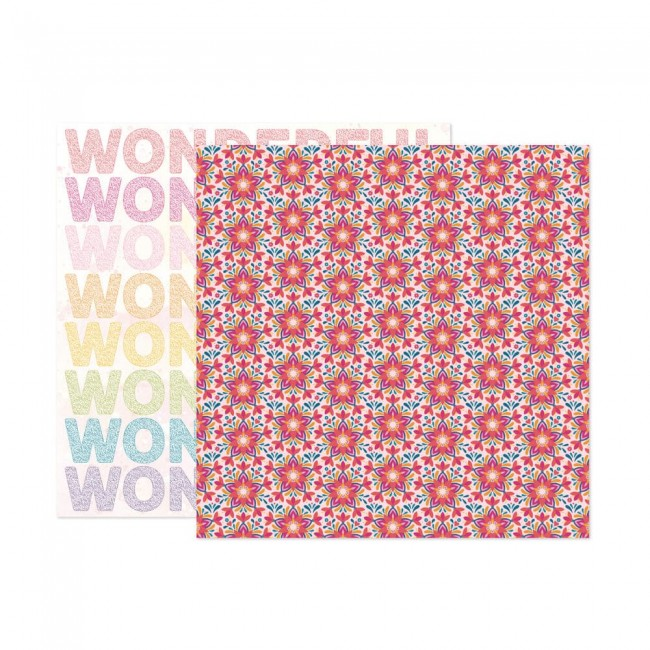Papel Estampado Doble Cara 12x12 Wonders Paige Evans 19