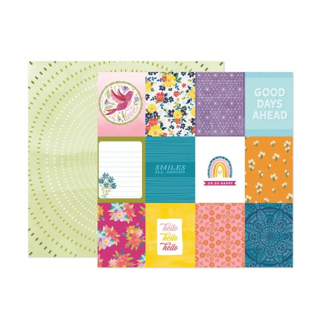 Papel Estampado Doble Cara 12x12 Wonders Paige Evans 24