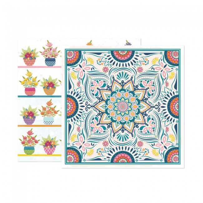 Papel Estampado Doble Cara 12x12 Wonders Paige Evans 9