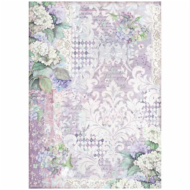 Papel de arroz decoupage A3 Hortensia Wallpaper