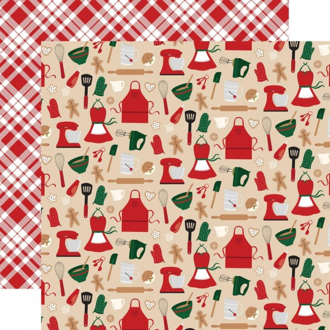 Papel D.C.12x12 A Gingerbread Christmas Kitchen