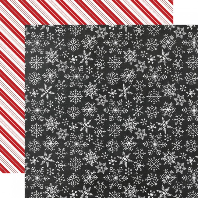 Papel Estampado Doble Cara 12x12 A Gingerbread Christmas Snowflakes