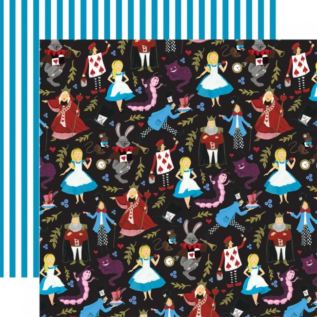 Papel Estampado Doble Cara 12x12 Alice In Wonderland No. 2 Tea Party