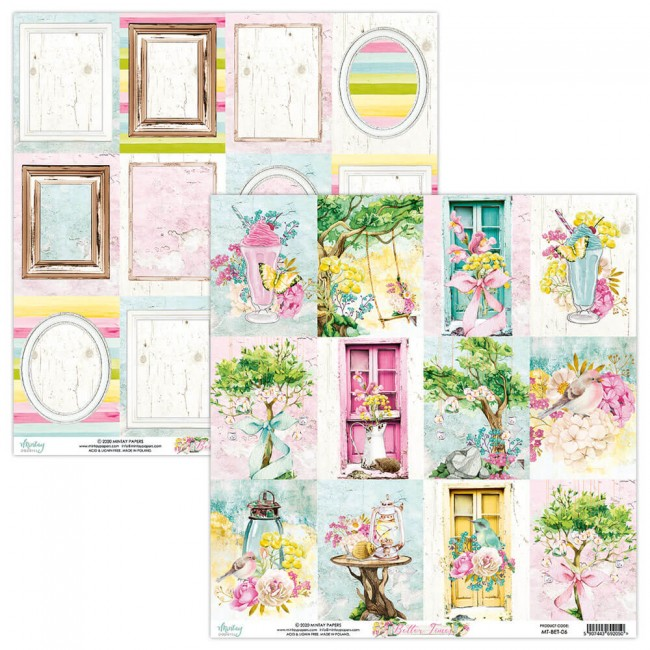 Papel Estampado Doble Cara 12x12 Better Times 6