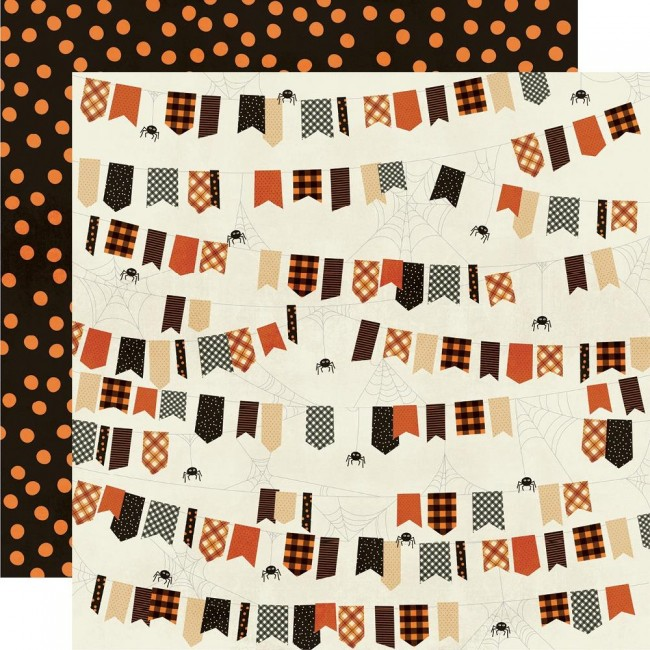 Papel Estampado Doble Cara 12x12 Boo Crew Ew Creepy