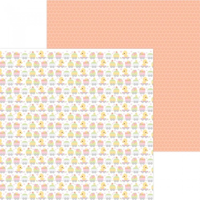 Papel Estampado Doble Cara 12x12 Bundle Of Joy DO Animal Quackers