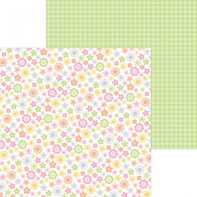 Papel Estampado Doble Cara 12x12 Bundle Of Joy DO Baby Blooms