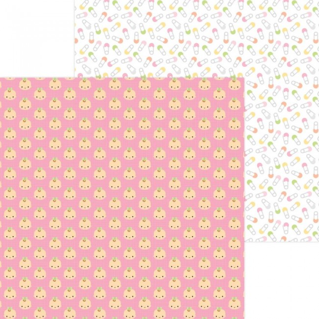 Papel Estampado Doble Cara 12x12 Bundle Of Joy DO Baby Girl