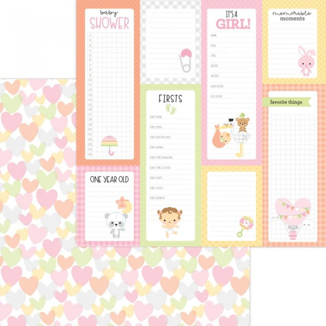 Papel Estampado Doble Cara 12x12 Bundle Of Joy DO Showered With Love