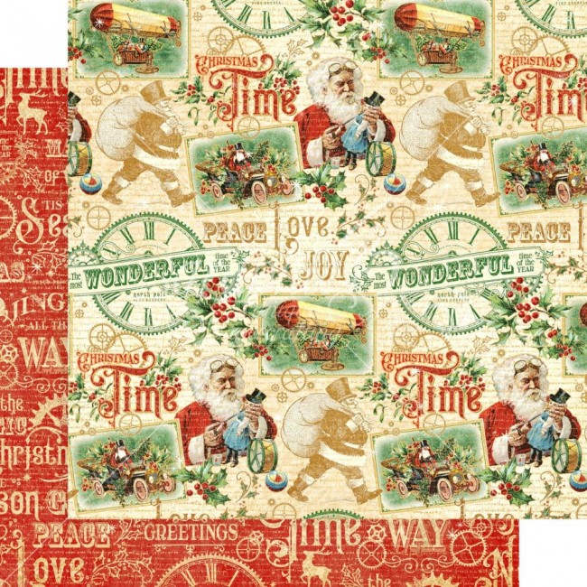 Papel Estampado Doble Cara 12x12 Christmas Time Believe In Magic