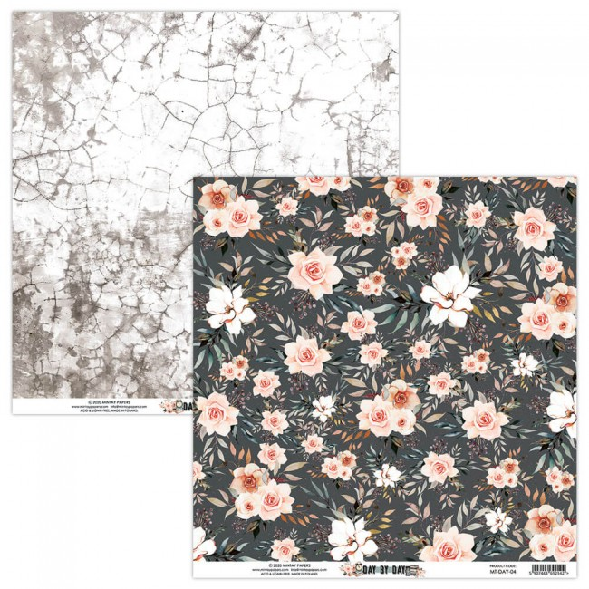 Papel Estampado Doble Cara 12x12 Day By Day 4