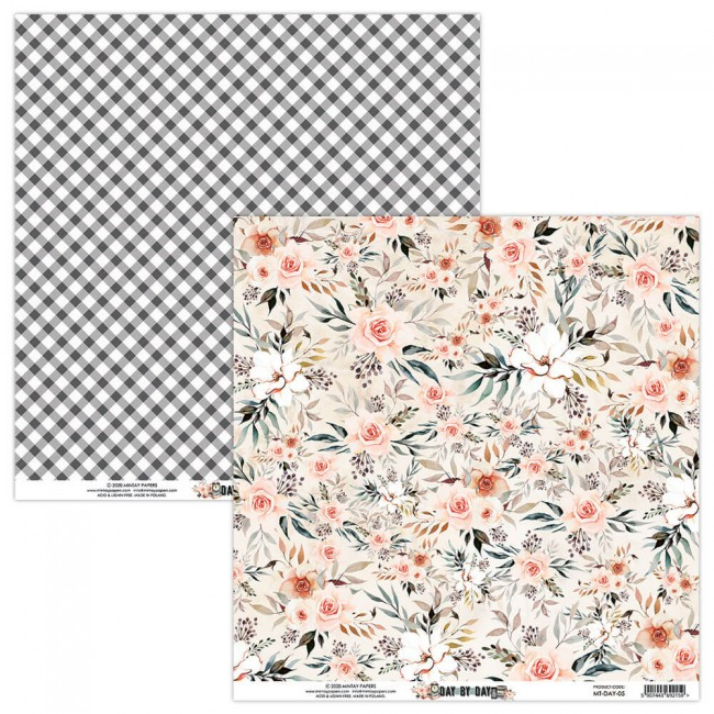 Papel Estampado Doble Cara 12x12 Day By Day 5