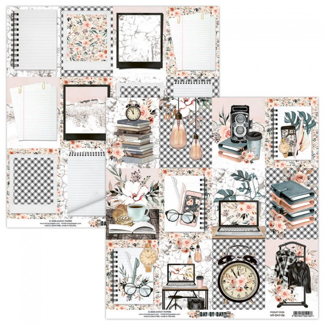 Papel Estampado Doble Cara 12x12 Day By Day 6