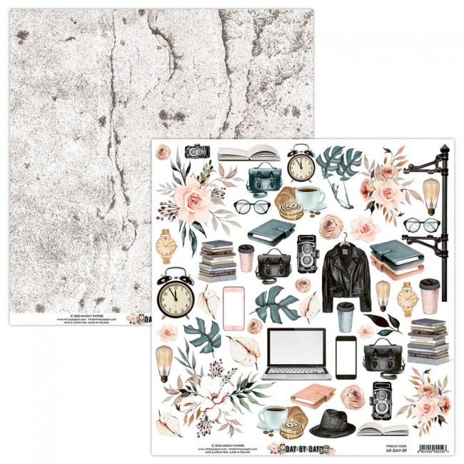 Papel Estampado Doble Cara 12x12 Day By Day 7