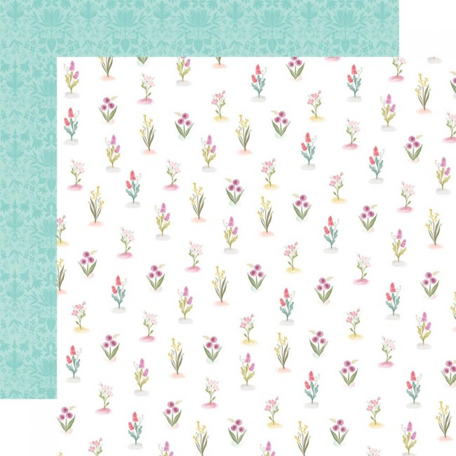 Papel Estampado Doble Cara 12x12 Flora No. 3 Bright Stems