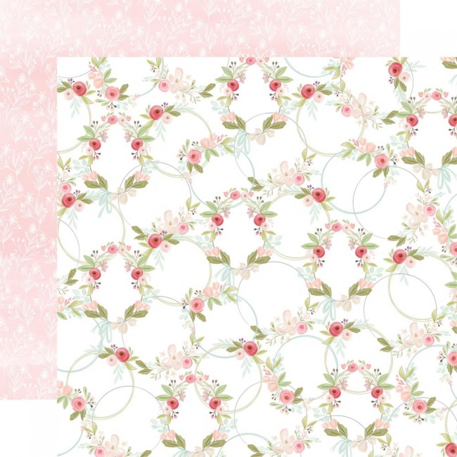 Papel Estampado Doble Cara 12x12 Flora No. 3 Subtle Wreaths