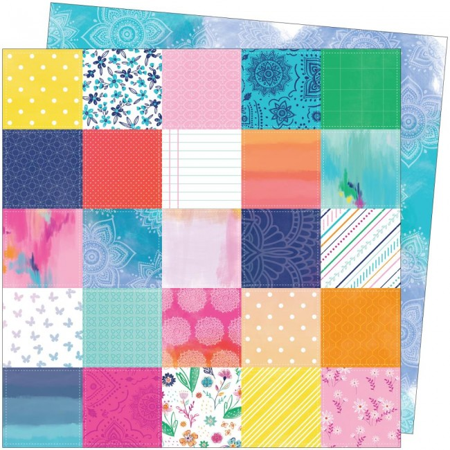 Papel Estampado Doble Cara 12x12 Go To The Scenic Route Paige Evans #10