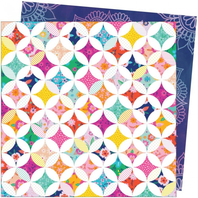 Papel Estampado Doble Cara 12x12 Go To The Scenic Route Paige Evans #11