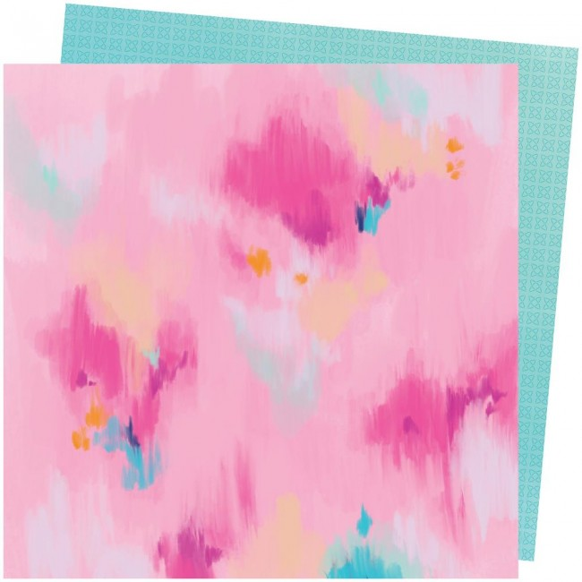Papel Estampado Doble Cara 12x12 Go To The Scenic Route Paige Evans #13