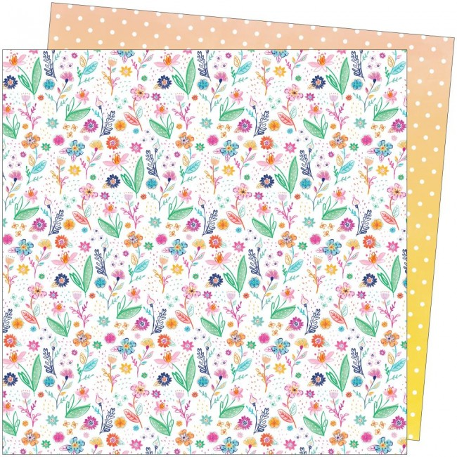 Papel Estampado Doble Cara 12x12 Go To The Scenic Route Paige Evans #14