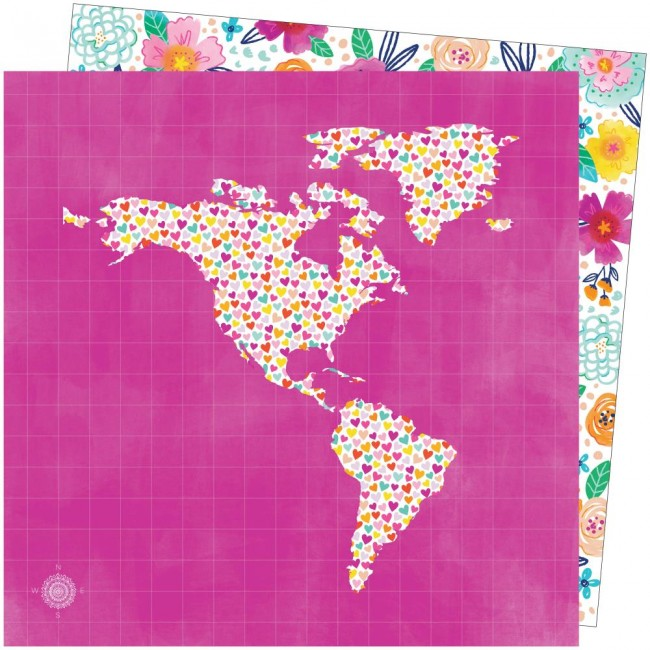 Papel Estampado Doble Cara 12x12 Go To The Scenic Route Paige Evans #18